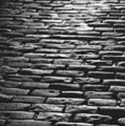 The Light On The Stone Pavement Art Print