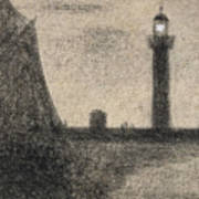 The Lighthouse At Honfleur Art Print