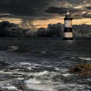 The Lighthouse Storm Art Print
