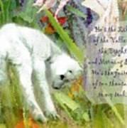 The Lily Of The Valley - Lyrics Art Print