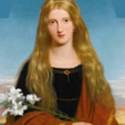 The Lily. Portrait Of Miss Bury Art Print