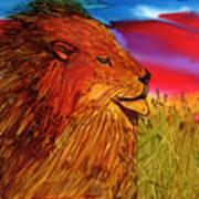 The Lion King Of Massai Mara Art Print