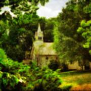 The Little Church On The Corner Art Print
