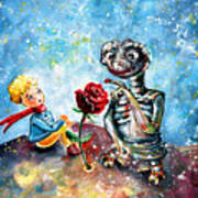 The Little Prince And E.t. Art Print