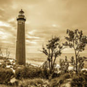 The Little Sable Lighthouse Art Print