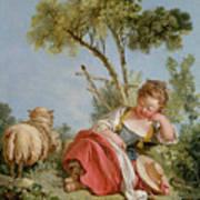 The Little Shepherdess Art Print