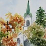 The Little White Church Art Print by Bobbi Price