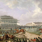 The Liverpool And National Steeplechase At Aintree Art Print