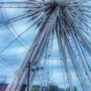 The Liverpool Wheel In Blues 3 Art Print