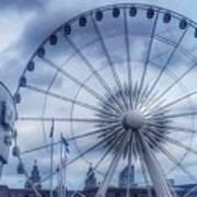 The Liverpool Wheel In Blues Art Print