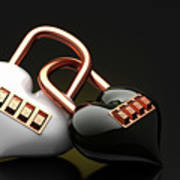 The Lock Code Puzzle Heart. Art Print