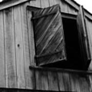 The Loft Door In Black And White Art Print