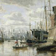 The Log Cabin At Hamburg Harbour Art Print