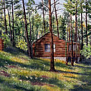 The Log Cabin Art Print