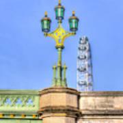 The London Eye And Westminster Bridge Art Print