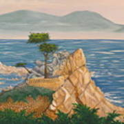 The Lone Cypress Tree Art Print