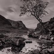 The Lone Tree Of Glencoe Art Print by Ben Spencer