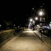 The Lonely Street By Central Park Ny Art Print