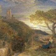 The Lonely Tower Art Print by Samuel Palmer
