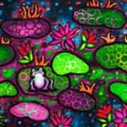 The Lonesome Frog II Art Print by Brenda Higginson