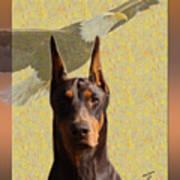 Dobermans..the Look Of The Eagle Art Print