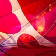 Hearts A' Fire - The Love Hot Air Balloon Art Print