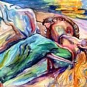 The Lovers Watercolor Art Print