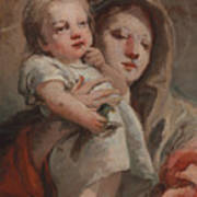 The Madonna And Child With A Goldfinch Art Print