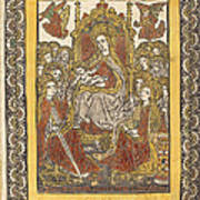 The Madonna Enthroned With Eighteen Holy Women Art Print