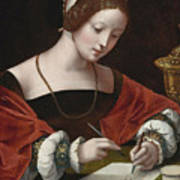 The Magdalene Writing A Letter Art Print
