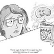 The Magic Bean Genie Art Print