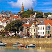 The Magic Of St. Peter Port In Guernsey Art Print