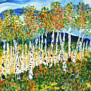 The Magical Aspen Forest Art Print by Christy Woodland