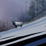 The Magnificent Elk Art Print