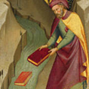 The Magus Hermogenes Casting His Magic Books Into The Water Art Print
