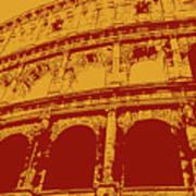The Majestic Colosseum Of Rome Art Print