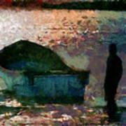 The Man And His Fishing Boat Art Print