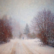 The Man In The Snowstorm Print by Tara Turner