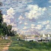 The Marina At Argenteuil Art Print by Claude Monet