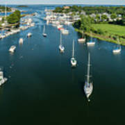 The Marina In Mamaroneck Art Print