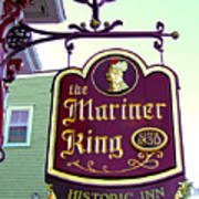 The Mariner King Inn Sign Art Print