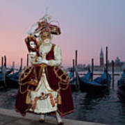 The Masks Of Venice Carnival Art Print