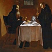 The Meal Of Saint Benedict Of Nurcia Art Print