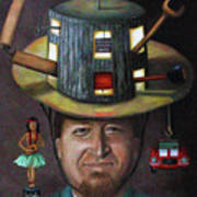 The Mechanic Part Of The Thinking Cap Series Print by Leah Saulnier The Painting Maniac