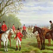 The Meet Art Print by Edward Benjamin Herberte