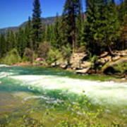 The Merced River In Yosemite Art Print