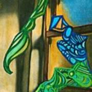The Mermaid On The Window Sill Art Print