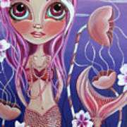 The Mermaid's Garden Art Print