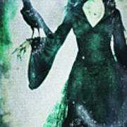 The Midnight Garden Witch Art Print