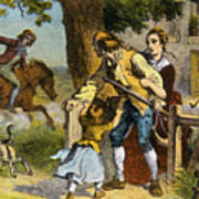 The Midnight Ride Of Paul Revere 1775 Print by Photo Researchers
